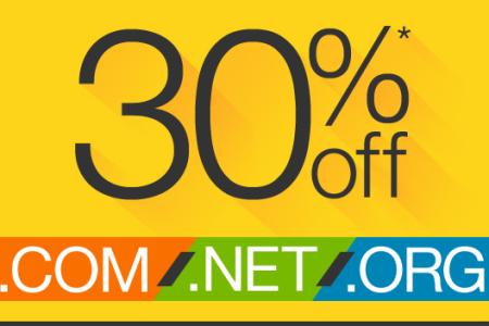 最新Godaddy域名优惠码30%支持COM/NET/ORG