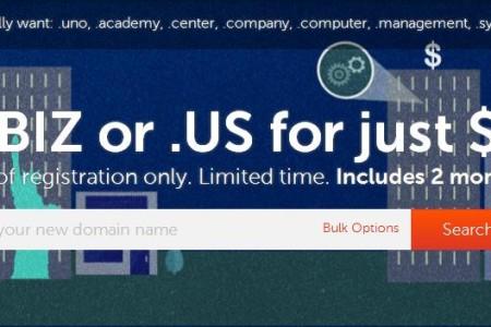 便宜域名-biz/us域名注册 首年仅$0.98