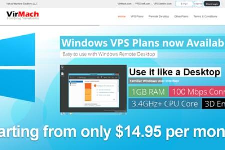 VirMach-Windows VPS主机6折优惠码-1g内存 SSD硬盘 年付29.4美元
