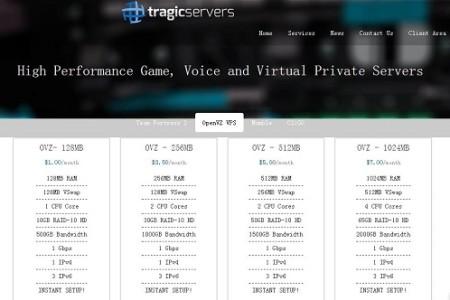 Tragicservers 美国大内存vps主机 SSD硬盘 芝加哥 $21/年