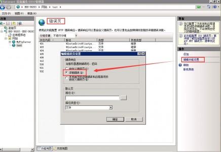网站打开提示500调试显示错误方法 Windows2003/08/12适用