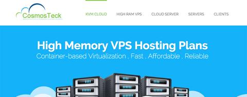 CosmosTeck-vps服务器7折优惠码 KVM 1核 256M 4G 200G 100Mbps 洛杉矶 /年