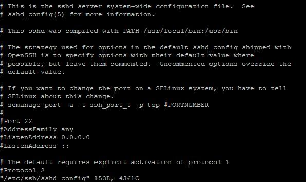 linux系统SSH远程端口22的修改方法