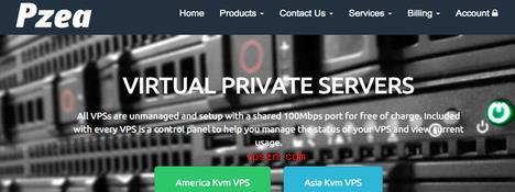 PZEA优惠活动 年付vps主机 OpenVZ架构 赠送10/20/30IP  洛杉矶195元起
