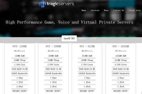 Tragicservers 美国大内存vps主机 SSD硬盘 芝加哥 /年
