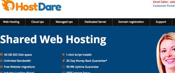 HostDare 便宜vps服务器/洛杉矶机房/1GB内存 月付1.99美元